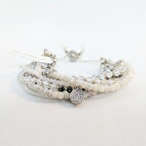Serafina Jewelry - Serefina 10-1 Magnetic Clasp Prelayered Bracelet